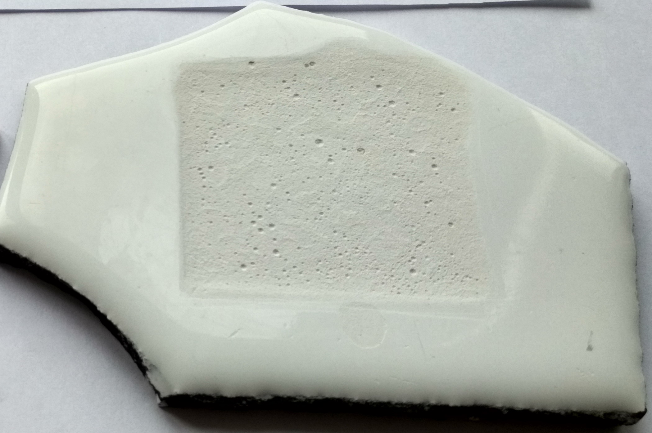 Результат воздействия на эмаль лимонной кислоты (30 дней), опыт, чугунная пластинка, Завод Универсал